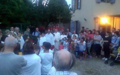 Matteo Zuppi benedice la sede di Funo